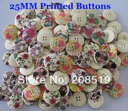 Wholesale WB0263 ronde boutons en bois mm boutons en bois naturel trous couture pour vêtements