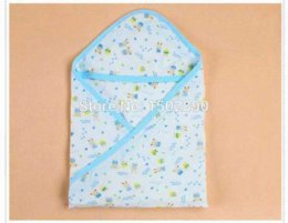 Wholesale car Cotton New Baby Swaddle Blanket Wrap Bath Hooded Towel Robe towel cake baby shower