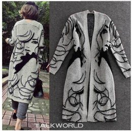 Wholesale 2016 Autumn Winter Printed Long Cardigan Capes Poncho Fashion Sweater Ladies Outwear size Free
