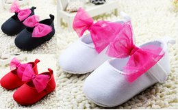 Wholesale 2015 kids soft bottom cotton toddler shoes CM CM CM newborn bow indoor single shoes Casual shoes pair cl