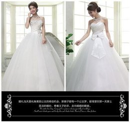 Wholesale 2015 new gown Han edition luxury set auger bind marriage gauze that wipe a bosom big butterfly s gown