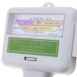 Wholesale 100 PH a estrenar SPA Agua Calidad del probador de agua CL2 cloro Fácil UsingTester metro de nivel de piscina un medidor de PH para Sunna H533