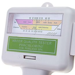 Wholesale 100 PH a estrenar SPA Agua probador de la calidad de agua medidor de nivel de cloro CL2 Fácil UsingTester para Piscina medidor de pH para Sunna H533