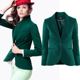 Discount Green Blazer Women Plus Size | 2017 Green Blazer Women ...