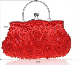 Wholesale Fashionable Bridal Embroider Hand Bags Beaded Dinner Handbags Korean Style Mutil Colors