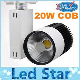 Nueva llegada 20W COB LED de luces de pista 1800LM Warm / Natural / blanco frío Led luces para la tienda de la CA 85-265V