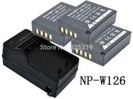 Livraison gratuite 3pc 7.2V 1260mAh Li-ion NP-W126 NP W126 Batterie + Chargeur pour Fujifilm Fuji NP-W126 NPW126 BC-W126 BCW126