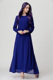 Wholesale Fashion New Casual Chiffon Plus Size Islamic Clothing Long Maxi Abayas Wine Red Black Muslim Abaya Dress For Women