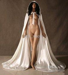 Wholesale Custom Make Fashion Satin Cape Cloak Medieval Renaissance Wedding Bridal Wraps High Quality