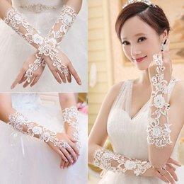 Wholesale Elegant Bridal Gloves Rhinestone Lace Fingerless For Bride Wedding Party wedding gloves My8