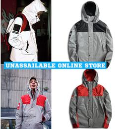 Wholesale New Mens windbreaker north jacket M Flag reflective Outdoor Waterproof Windproof Sports college sportswear hoody coats