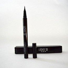 Wholesale 2015 New Waterproof Liquid Eye Liner Eyeliner Pen Make up Cosmetic Black LICHEE SU Brand Eyeliner
