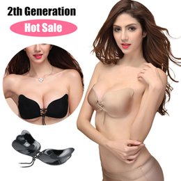 Wholesale EOZY Women s Ladies Silicone Invisible Bra Sexy Backless Seamless Underwear Strapless Adhesive Stick On Gel Push Up Bra Breast Pad FWX5