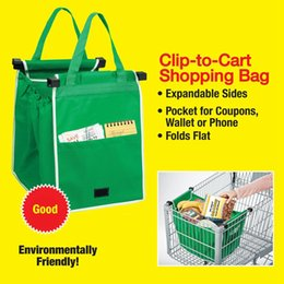 Wholesale Newest Shopping Grocery Bag For Supermarket Trolleys Carrier Bag Shopping Bag Reusable Trolleys Folding Shopping Bag DHL Free