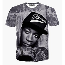 Wholesale harajuku style women men t shirt print Wiz Khalifa rock punk t shirt d hiphop tshirt clothing men s graphic t shirt tops