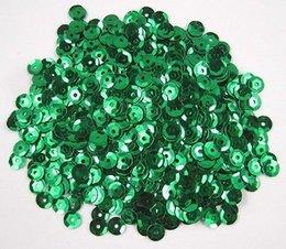 Wholesale 10g aprox mm verde oscuro Flake de lentejuelas Decoración Confetti