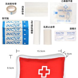 Wholesale 9 Emergency Survival FIRST AID KIT Treatment Pack OUTDOOR SPORT MEDICAL BAG