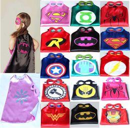 Wholesale Superhero cape CAPE MASK cm back Super Hero Costume for Children Halloween Party Costumes for Kids Children s Costume