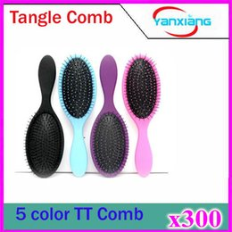 Wholesale 300pcs No hair knit Brush shower Brush Combs Detangling hair brush fashion item for women ZY TT