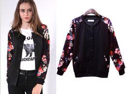 Wholesale Fall Women Jackets Coats European and American Flower Printed Coat Sweatshirt Jacket Shirt Long Sleeve Clothes Plus Size for Women