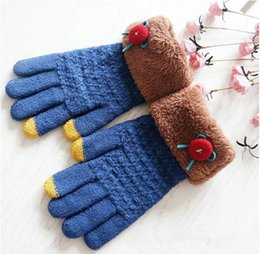 Wholesale Women knitted Phone Touch Gloves Winter Gloves Double Knitting Gloves New Fashion Hot style
