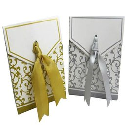 Wholesale Gorgeous Gold Ribbon Wedding Party Candy Box Favor Gift Boxes