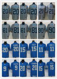Detroit Lion Jerseys  9 Matthew Stafford 15 Golden Tate 20 Barry Sanders 21  Ameer Abdullah Noble Fashion elite jerseys 03 Jersey a3a393da1