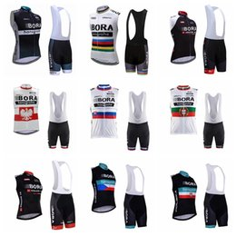 2017 bike BORA team Cycling Sleeveless jersey Vest (bib)shorts sets 2019 new arrival mtb bike ropa ciclismo hombre mens bicycle wear 21907F