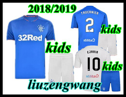61d9981bf40 Kids 2018 2019 new kids kit Rangers FC Home Blue Soccer Jersey 18 19 child  Glasgow Rangers Away White Football jerseys Shirt youth Uniform