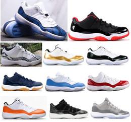 reputable site cc9f1 ef758 Cérémonie de clôture de haute qualité 11 bleu peau de serpent bleu Navy Gum Basketball  Chaussures Hommes 11s UNC Cherry Varsity Rouge Émeraude Baskets Avec ...