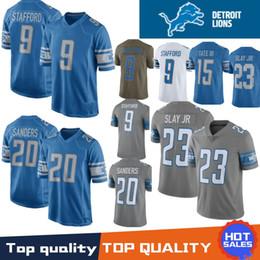 20 Barry Sanders Detroit Lion Jerseys 9 Matthew Stafford 23 Darius Slay Jr  15 Golden Tate III 9 Matthew Stafford 2019 Stitched Jerseys 7804b6cbe