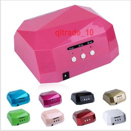 Wholesale 30 BBA5456 Fashion CCFL W LED Light Diamond Shaped Best Curing Nail Dryer Nail Art Lamp Care Machine UV Gel Nail Polish Nail Tools