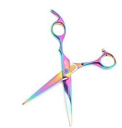 Wholesale 1pcs Hair Cut Cutting Hot sale Barber Haircut Scissors high quality inch Hairdressing Scissors colors BZ870588 A5