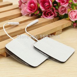 Wholesale 10pcs pair x5cm Electrode Pads for Tens EMS Unit with mm Connector for Slimming Massage Digital Therapy Machine Massager