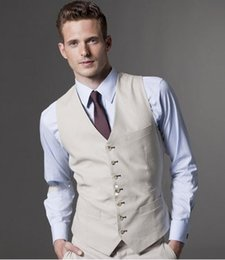 Wholesale HOT Formal Men s Waistcoat New Arrival Fashion Groom Vests Casual Slim Vest Custom Made NO