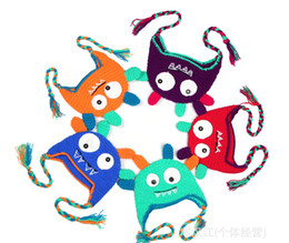 Wholesale Baby hand knitting owls hat Knitted hat Children s Caps crochet hats for kids p l
