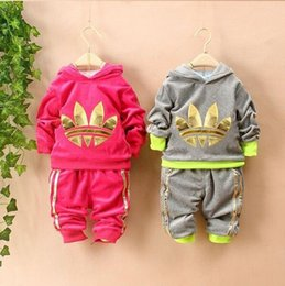 Wholesale baby girls clothing setcartoon minnie mouse winter children s wear cotton casual tracksuits kids clothes sports suit hot
