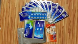Wholesale 28pcs Teeth Whitening Strips with shade guide tooth whitening products Non Peroxide Gel Strips Mint Flavor