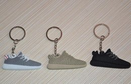Wholesale 2016 hot sell Yeezy Boost Keychain oxford tan color new Sneaker Key Chain Kids Key Rings Key Holder Llaveros Chaveiro Porte Clef QLK183