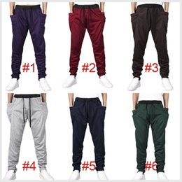 Wholesale 2015 Mens Joggers Fashion Harem Pants Trousers Hip Hop Slim Fit Sweatpants Men for Jogging Dance Colors sport pant