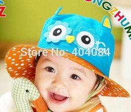 Wholesale Retail Spring Owl Design Bonnet Baby Hat Child Bucket Hats Boys Girls Sun Beach Cap types pick drop shipping
