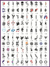 Wholesale 100Pcs Airbrush Stencils Flower Animals Series For Body Paint New Temporary Tattoo Stencils Book1