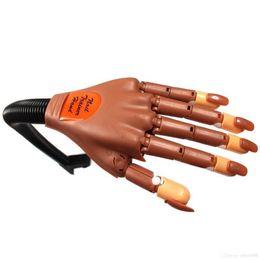 Wholesale Brand New Professional Super Flexible Rotate False Like Human Fingers Personal Salon Prosthetic Trainer Practice Hand Nail Art Kit
