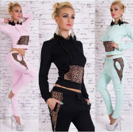 Wholesale Hot European and American women clothing Spring women leisure sports suit jacket pants two piece suits