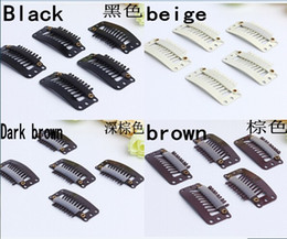 Wholesale 9 teeth snap wig clip for hair extension weave colors available
