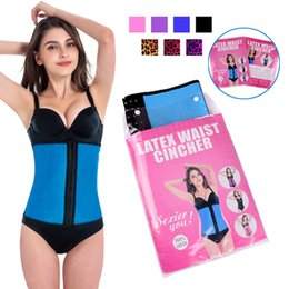 Wholesale XS XL Colors Women Latex Rubber Waist Trainers Waist Training Belt Kim Waist Training Belt Underbust Corset Body Shaper Shapewear