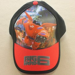 Wholesale Cartoon Big Hero boy and girl Baseball caps Mesh hat Peaked Cap Sun hat Children Gift C001