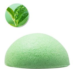 Wholesale natural green tea konjac facial and body cleanser exfoliant sponge for women and kids