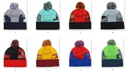 Wholesale 2015 Newest Beanies Pom Knit Hats Sports Cap Mix Match Order All City Caps in stock Top Quality Hat