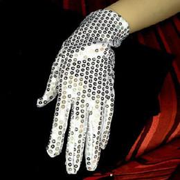 Wholesale Michael Jackson Dance Billie Jean Silver Sequin Gloves Wedding Party Dance Performance TA300A